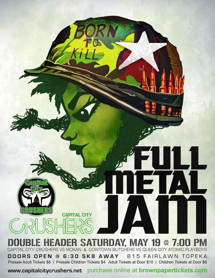 Capital City Crushers roller derby poster