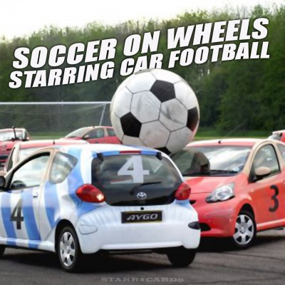 Car football aka soccer on four wheels