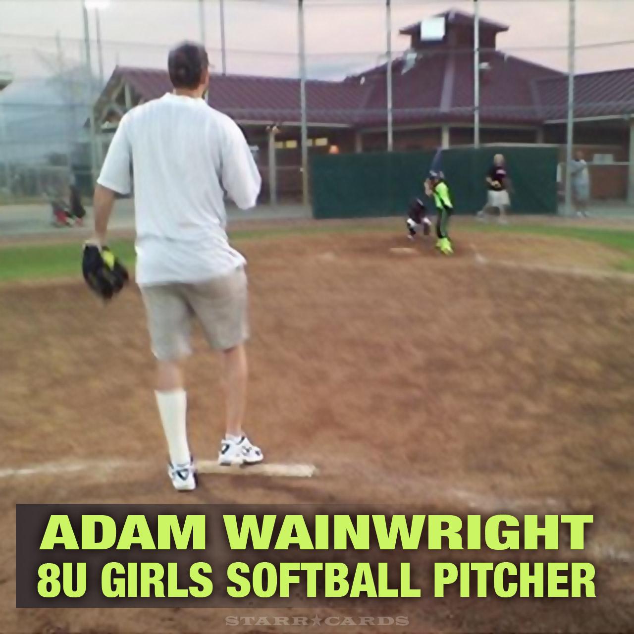 Cardinals Adam Wainwright moonlights as 8u girls softball pitcher