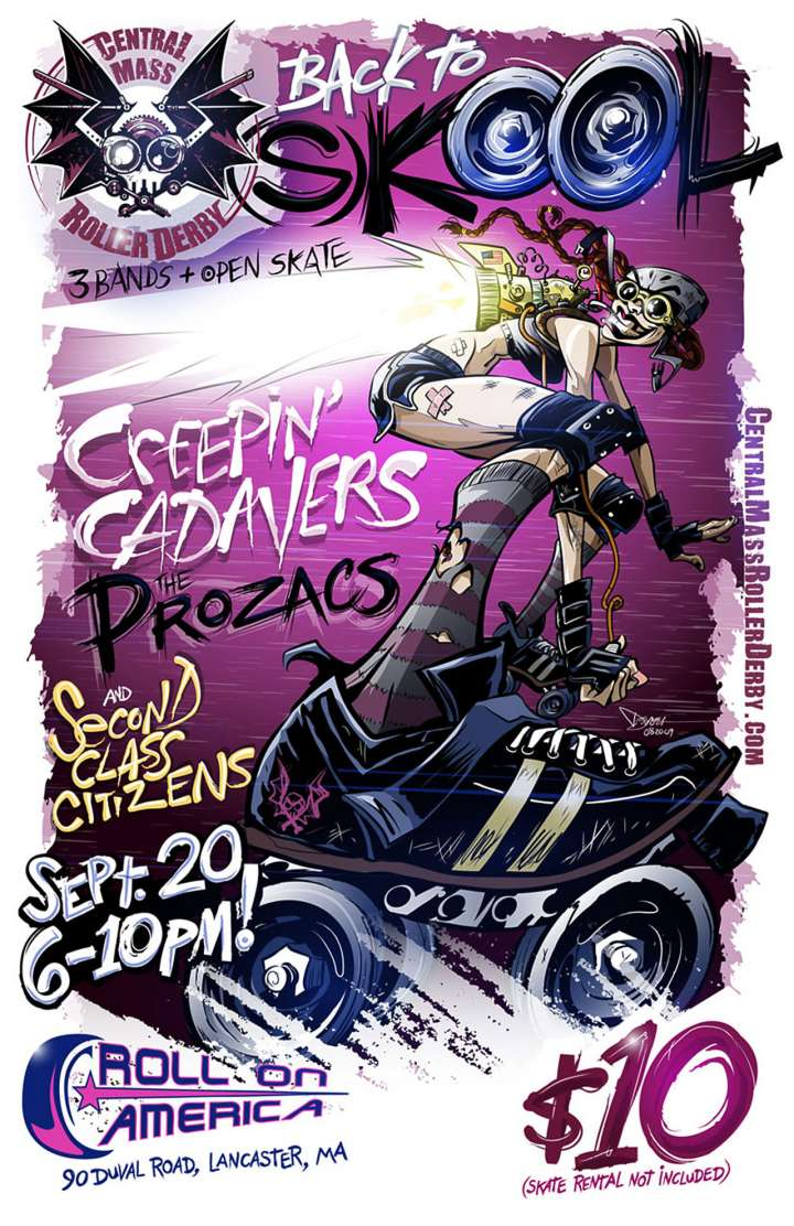 Central Mass (Bay City Roller Derby) poster by Derek Ring