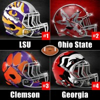 CFB Playoff week 12 rankings with alternative helmets for LSU, Ohio State, Clemson and Georgia