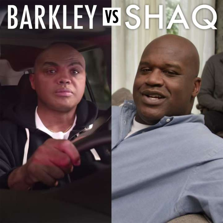 Charles Barkley versus Shaquille O'Neal in March Madness ads