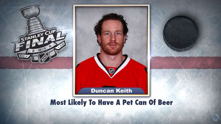 "Chicago Blackhawks' Duncan Keith on ""Tonight Show Superlatives"" read by Jimmy Fallon"