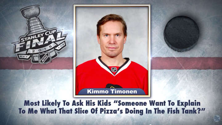 "Chicago Blackhawks' Kimmo Timonen on ""Tonight Show Superlatives"" read by Jimmy Fallon"