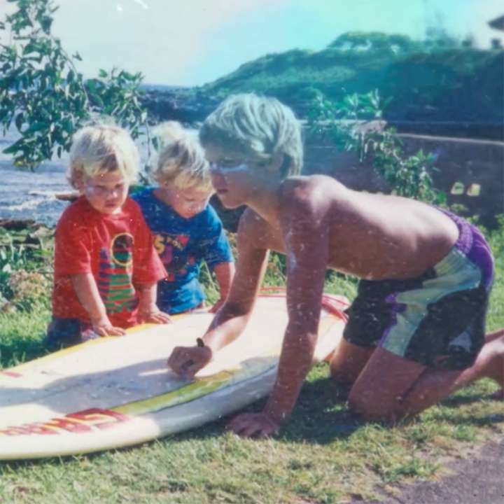 Childhood photo of surfer Ian Walsh and his brothers