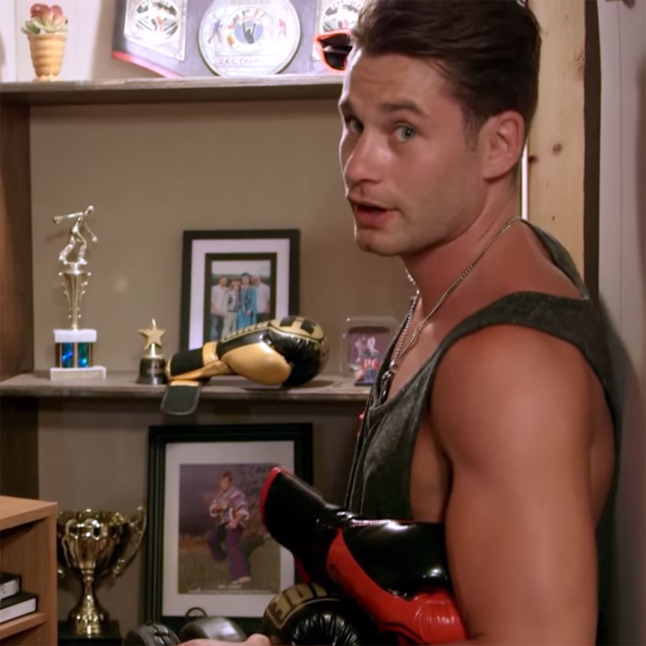 Chris Algieri has a bachelor pad in his parents' basement