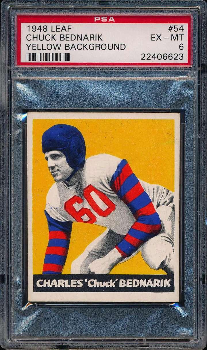Chuck Bednarik, 1948 Leaf football card