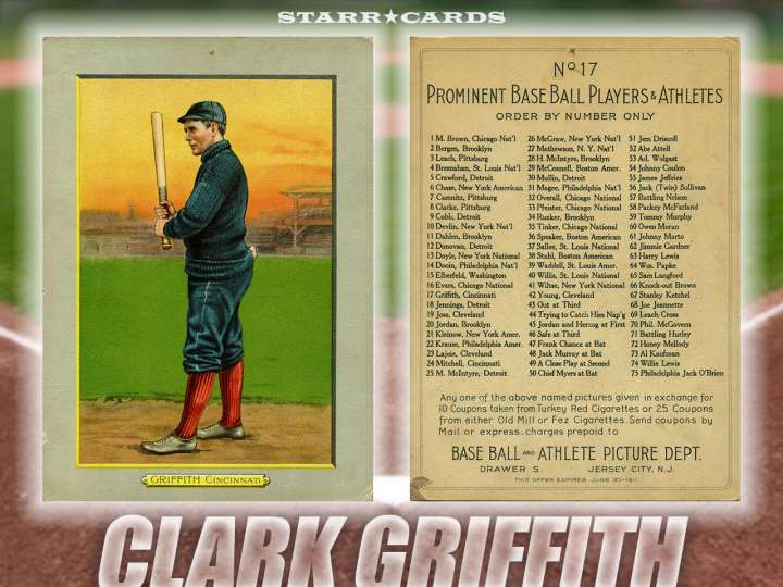 Clark Griffith Cincinnati Reds baseball card