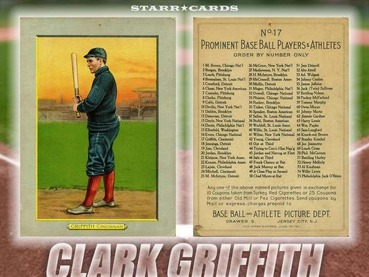 Clark Griffith Cincinnati Reds baseball card