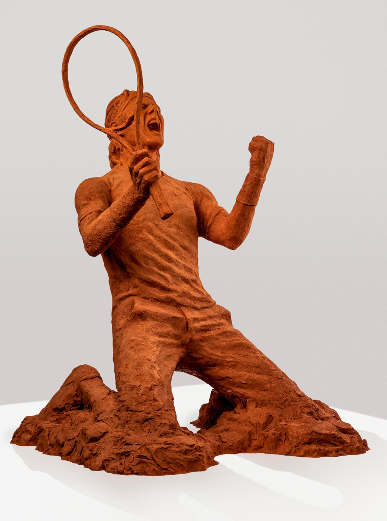 Clay sculture Of Rafael Nadal