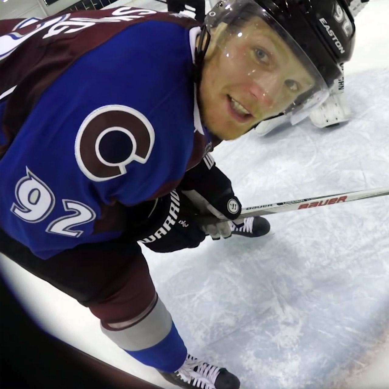 Colorado Avalanche captain Gabriel Landeskog smashes GoPro camera