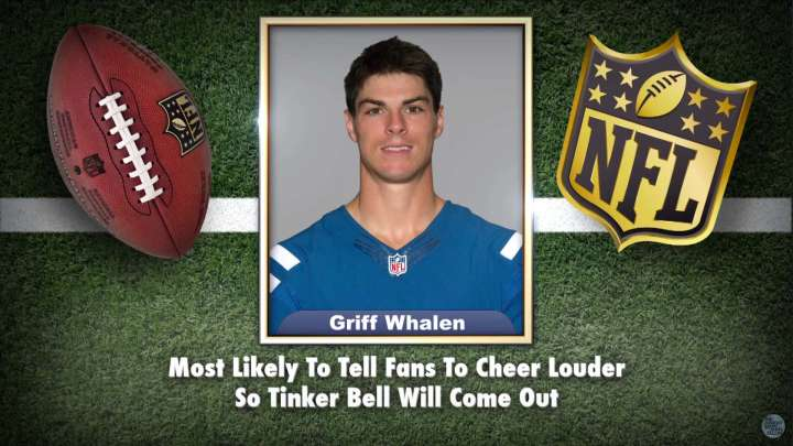 Colts' Griff Whalen makes the list on Tonight Show Superlatives