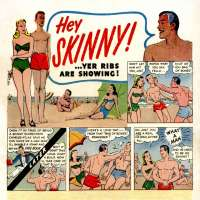 "Comic book ad with Charles Atlas' ""Hey Skinny!"" comic"