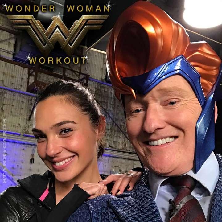 Conan O'Brien joins Gal Gadot for Wonder Woman workout