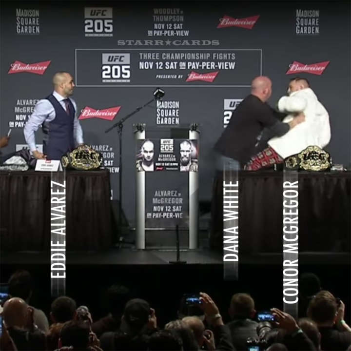 Conor McGregor and Eddie Alvarez mix things up at UFC 205 pre-fight press conference