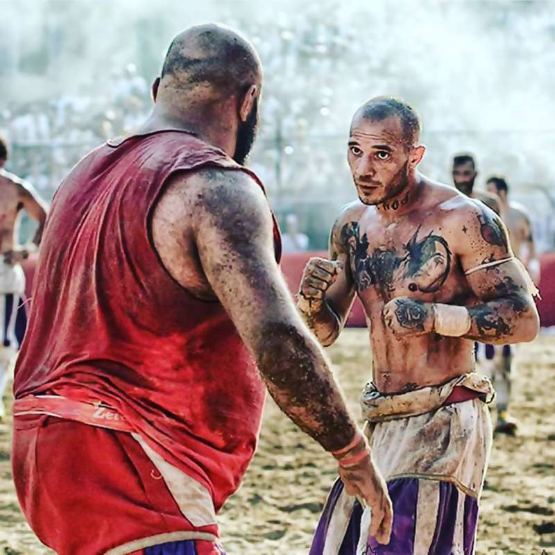 Contestants square off in Florence, Italy's Calcio Storico