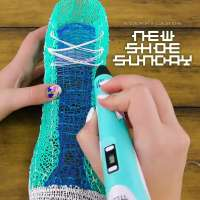 Converse Chuck Taylor All Stars made with DIY 3D pen