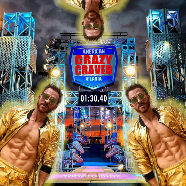"""""""Crazy"""" Neil Craver takes on American Ninja Warrior Atlanta Qualifier obstacle course"""