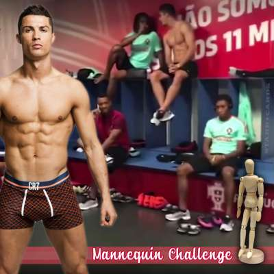 Cristiano Ronaldo and Portugal's national football team take the Mannequin Challenge