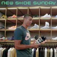 Cristiano Ronaldo goes shoe shopping in Beijing, China