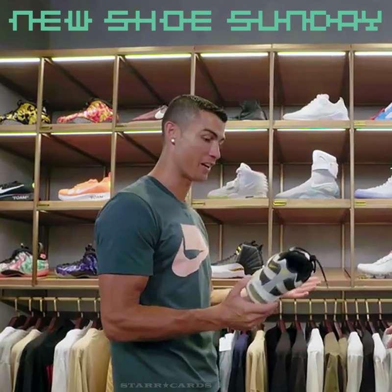 Cristiano Ronaldo goes shoe shopping in Beijing, China