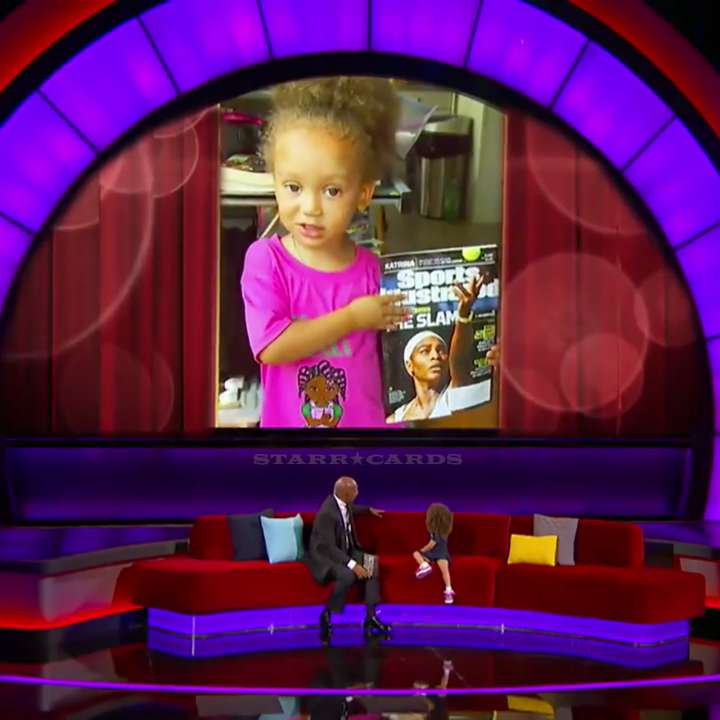 Cute Serena Williams fan Mykal-Michelle (aka Mimi) appears on 'Little Big Shots' with Steve Harvey
