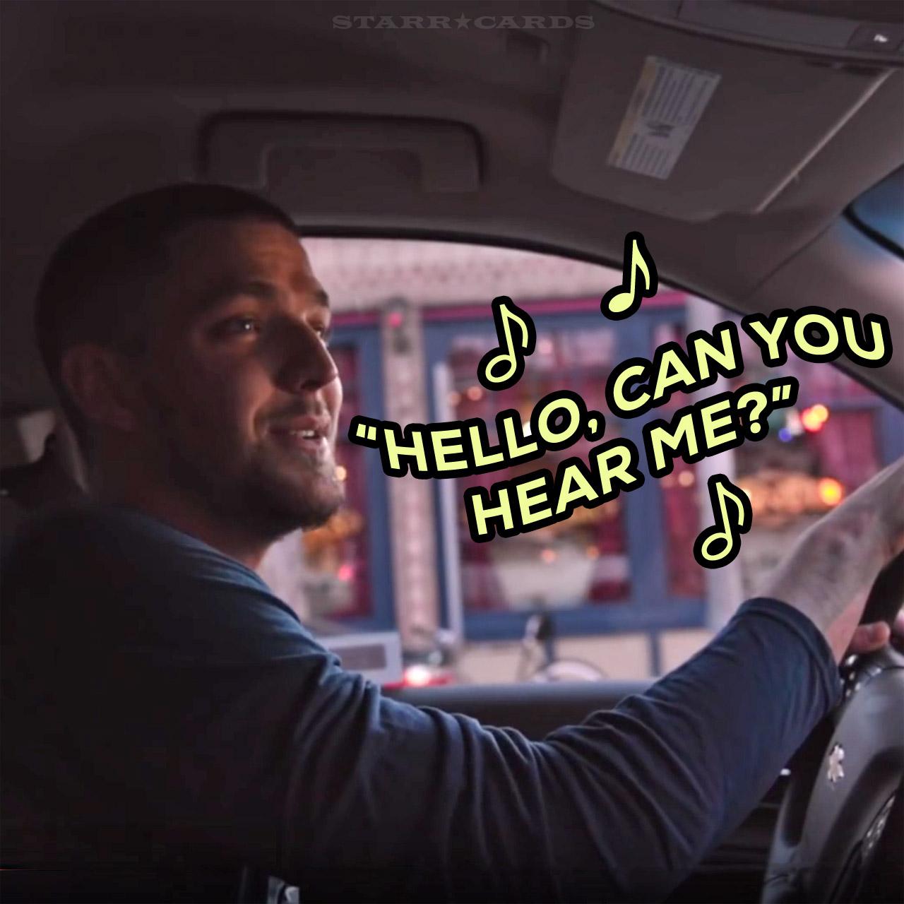"Dallas Mavericks small forward Chandler Parsons sings ""Hello"" by Adele"