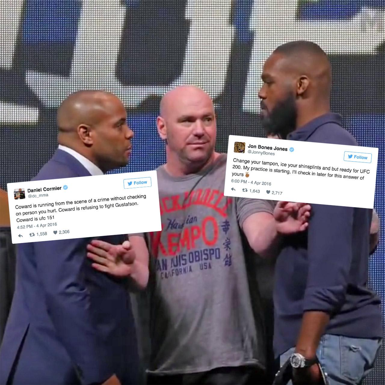 Daniel Cormier and Jon Jones fight on Twitter after UFC 197 date nixed