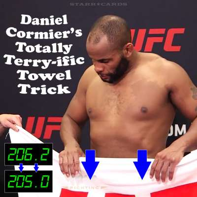 Daniel Cormier uses towel trick to make weight for UFC 210