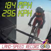 Denise Mueller-Korenek sets bicycle land-speed record at 184 mph