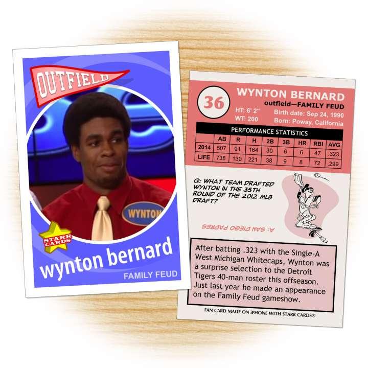 Detroit Tigers prospect Wynton Bernard on Family Feud
