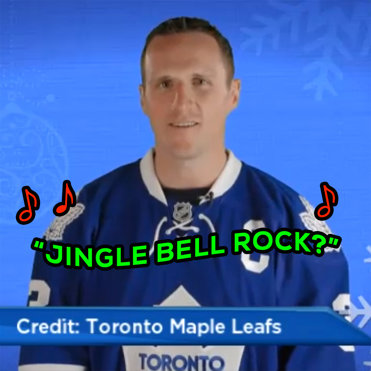 """Dion Phaneuf, Maple Leafs try to sing """"Jingle Bell Rock"""""""