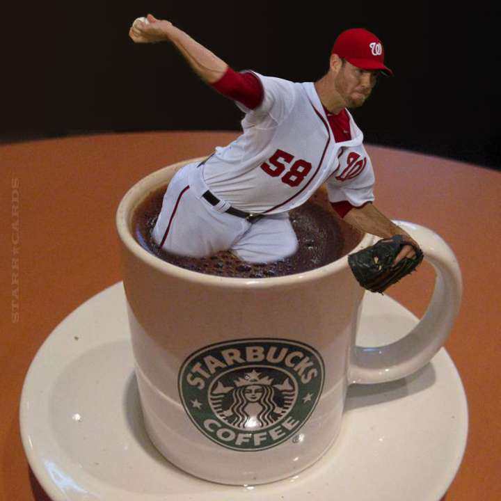Nationals pitcher Doug Fister gives the gift of Starbucks coffee