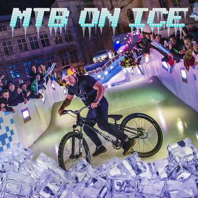Downhill mountain biking on ice with Yannick Granieri