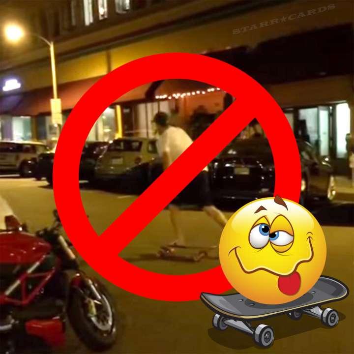 Drunk skateboarding ban: friends don't let friends skate drunk