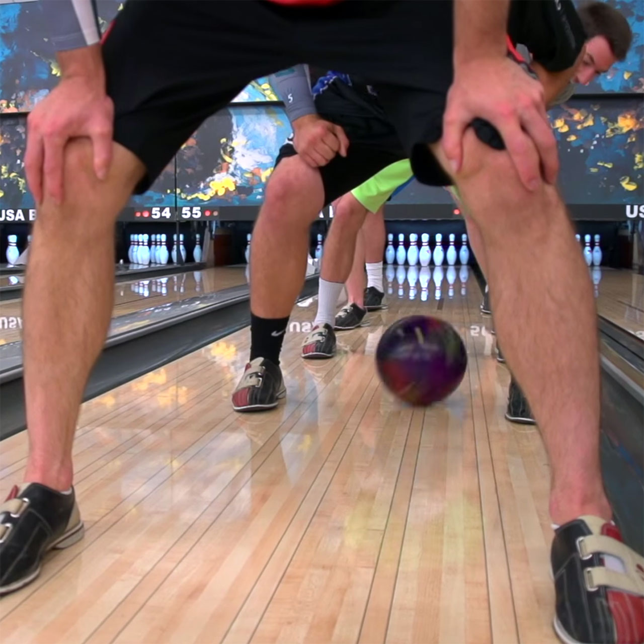 Dude Perfect bowling trick shots with Jason Belmonte: Leg Tunnel