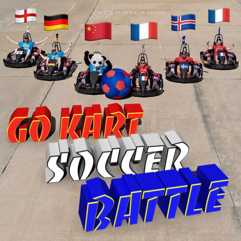 Dude Perfect engages in Go Kart Soccer Battle