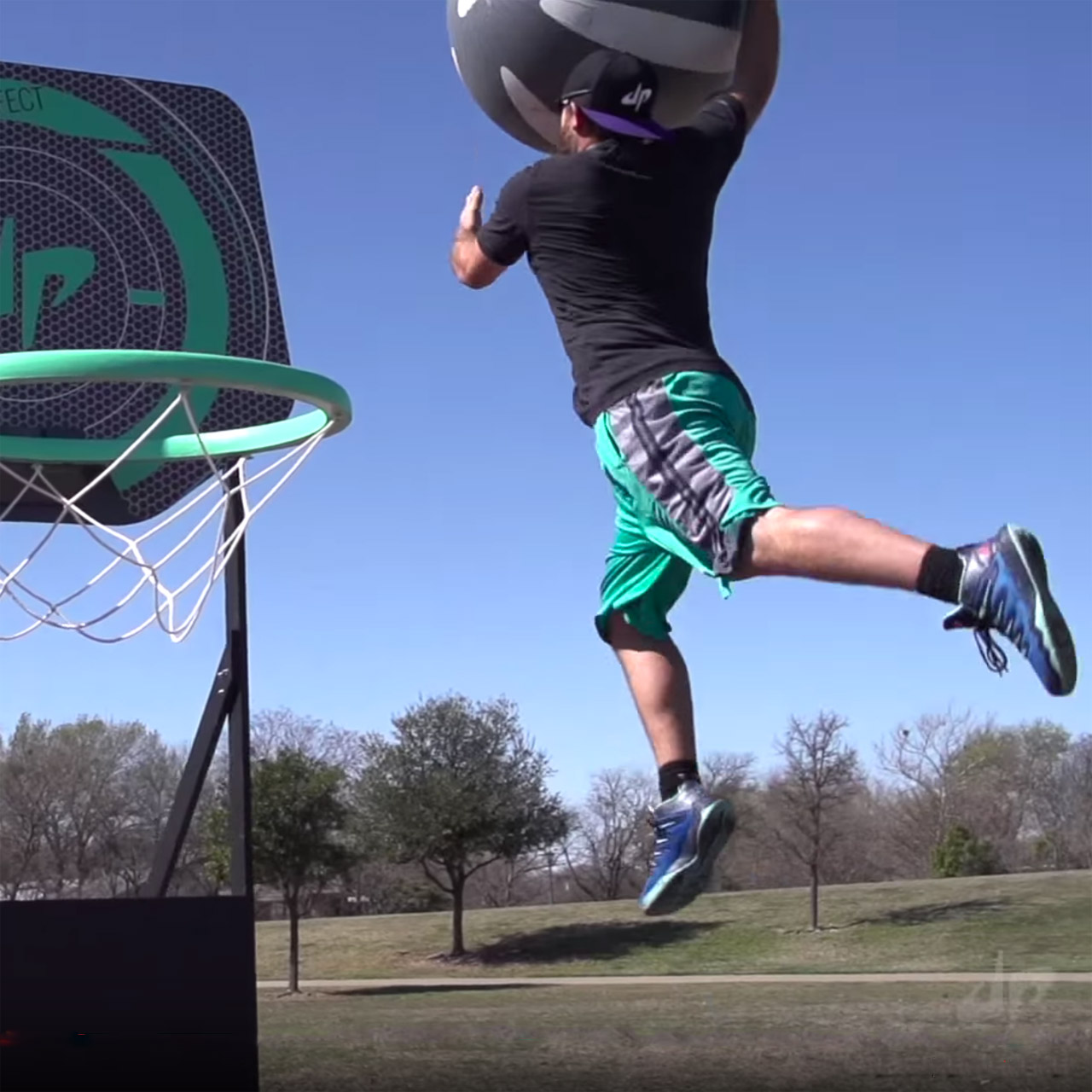 Dude Perfect plays giant Nerf basketball