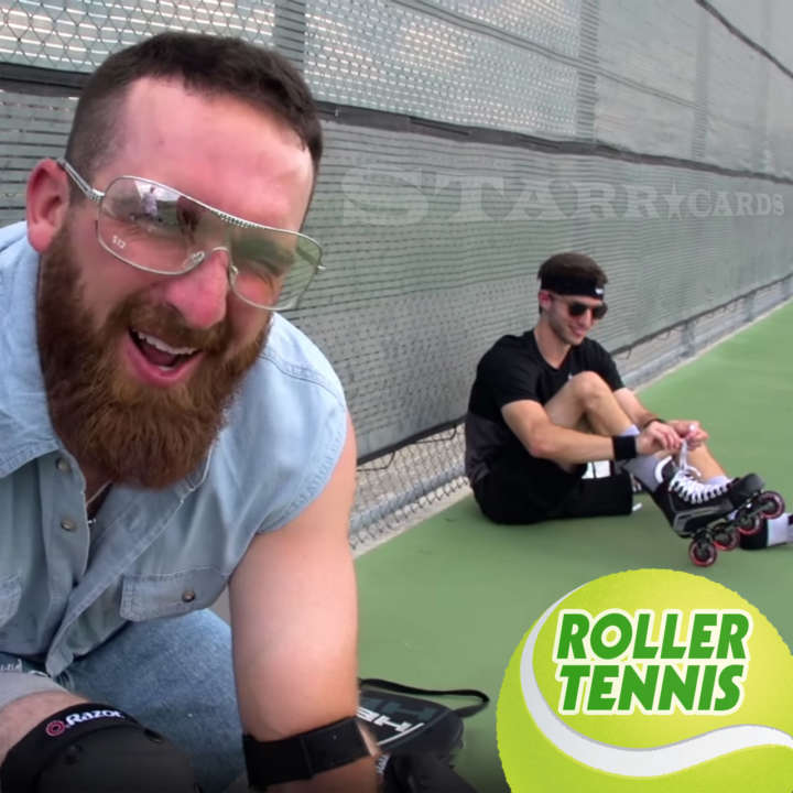 Dude Perfect's Coby Cotton tries roller tennis