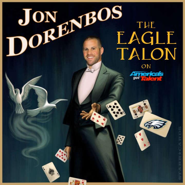 Eagles long-snapper Jon Dorenbos stars as The Eagle Talon on 'Americas' Got Talent'