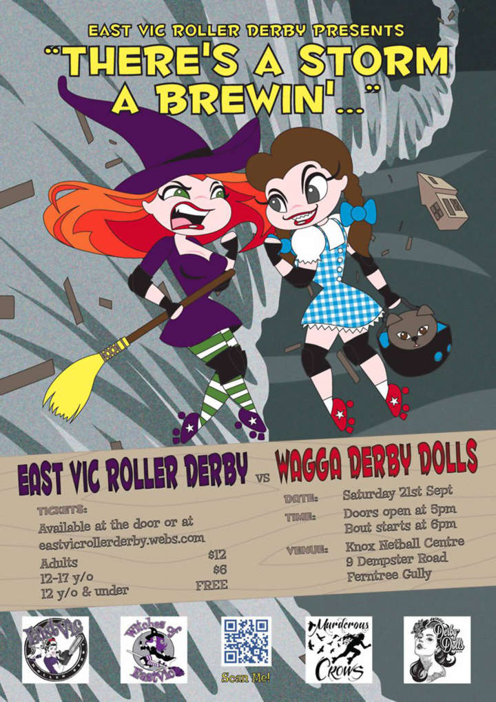 East Vic Roller Derby Poster