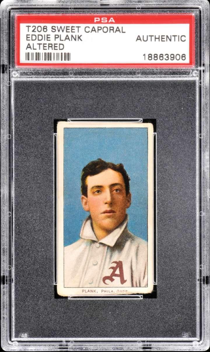 Eddie Plank, 1909-1911 ATC T206 baseball card
