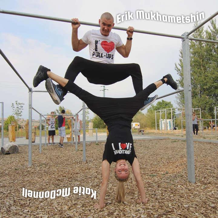 Erik Mukhametshin and Katie McDonnell trained for 'Ninja Warrior UK' Series 2