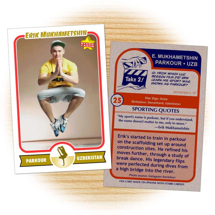 Erik Mukhametshin freerunner fan card