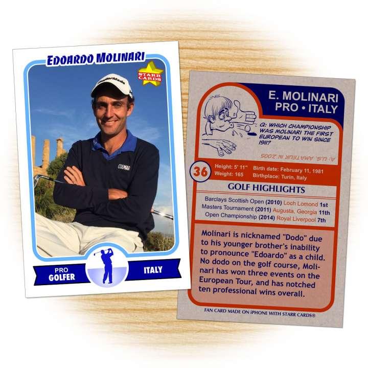 European Tour golf pro Edoardo Molinari