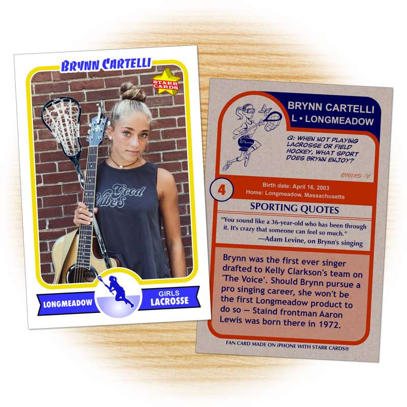 Fan card of Brynn Cartelli on season 14 of 'The Voice'