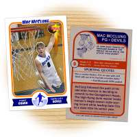 Fan card of Gate City Devils basketball star Mac McClung