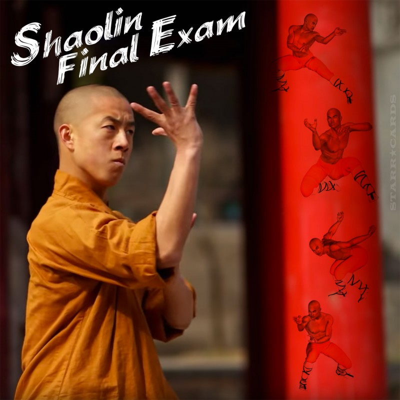 Final exam for Shaolin Temple warrior monk