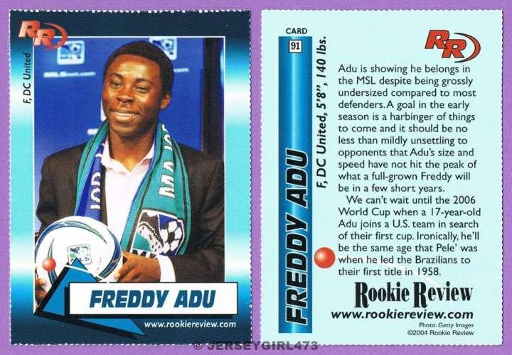 Freddy Adu: DC United rookie card