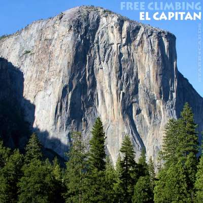 Free climbing El Capitan in California's Yosemite National Park